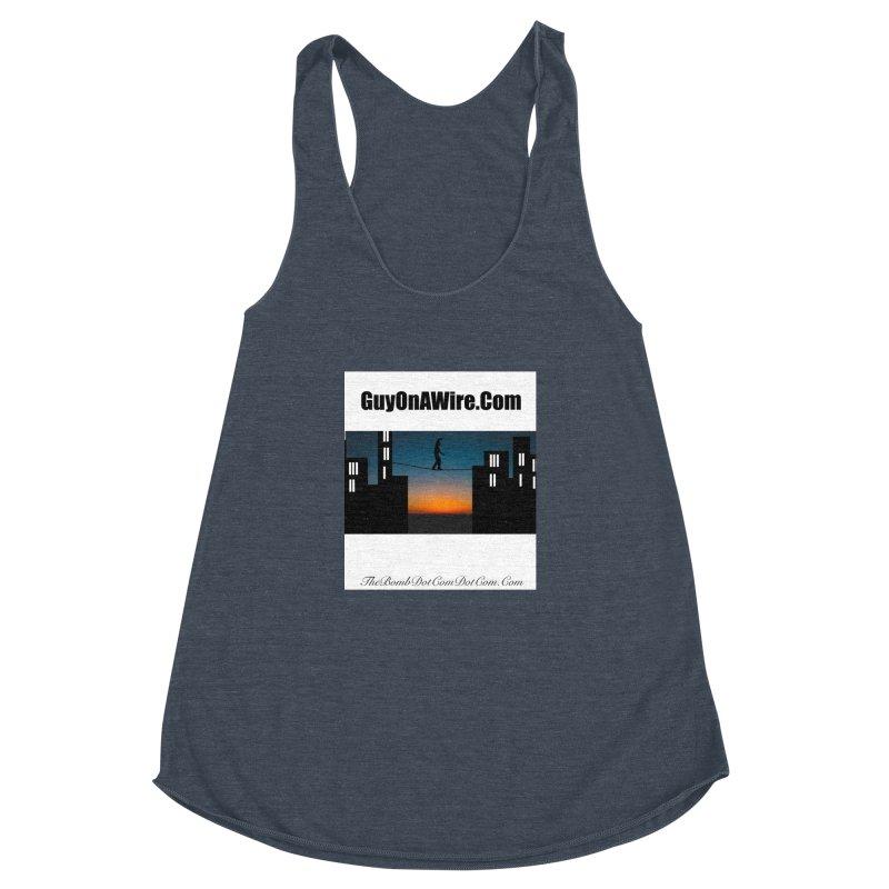 GuyOnAWire.com for Jamie Gagnon Women's Racerback Triblend Tank by thebombdotcomdotcom.com