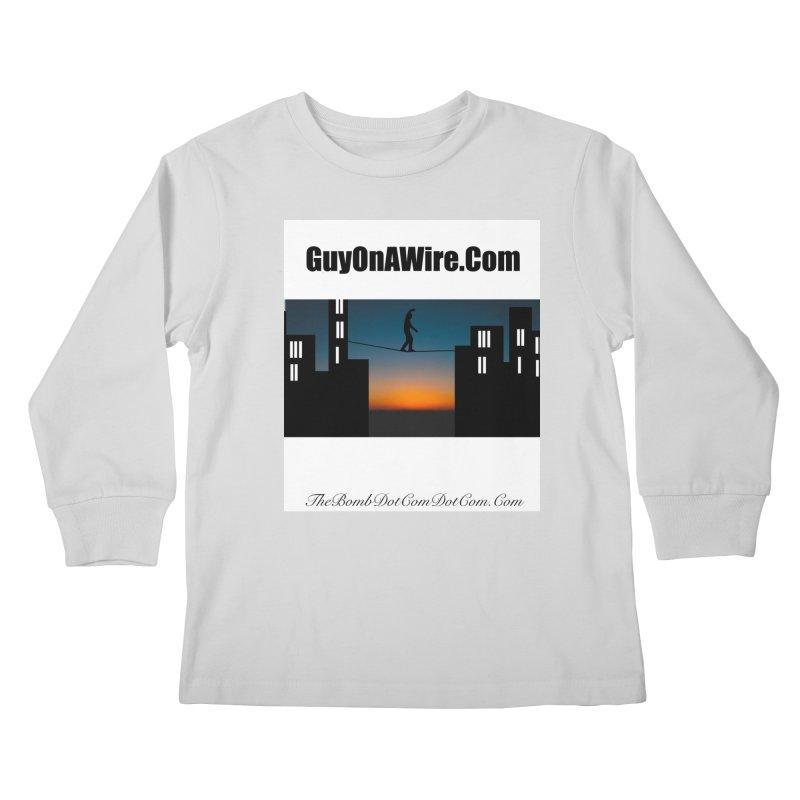 GuyOnAWire.com for Jamie Gagnon Kids Longsleeve T-Shirt by thebombdotcomdotcom.com