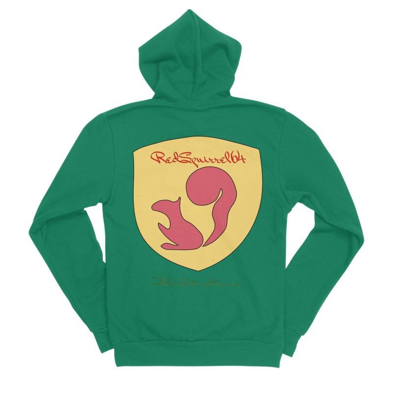 RedSquirrel64 for Bryan Hornbeck Women's Sponge Fleece Zip-Up Hoody by thebombdotcomdotcom.com