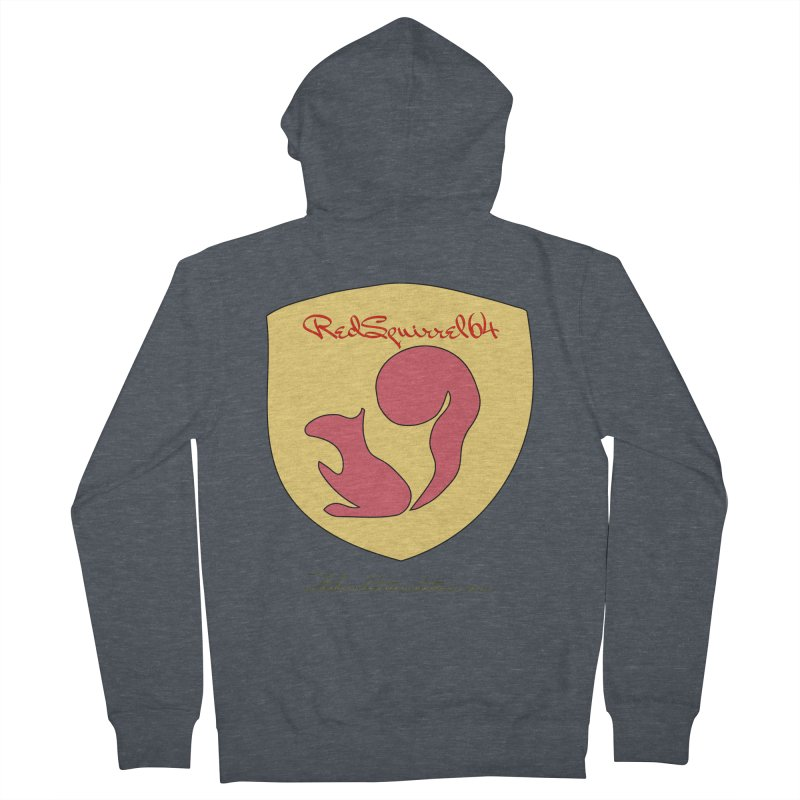 RedSquirrel64 for Bryan Hornbeck Men's French Terry Zip-Up Hoody by thebombdotcomdotcom.com