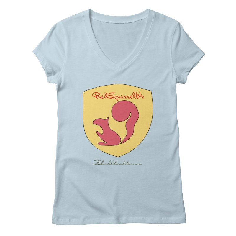 RedSquirrel64 for Bryan Hornbeck Women's Regular V-Neck by thebombdotcomdotcom.com