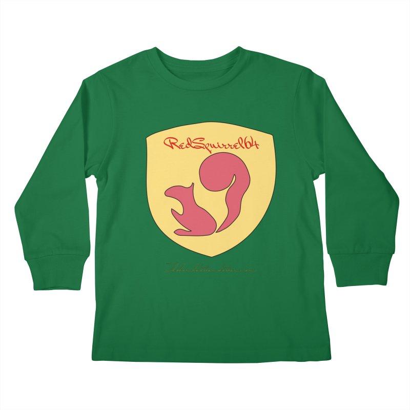 RedSquirrel64 for Bryan Hornbeck Kids Longsleeve T-Shirt by thebombdotcomdotcom.com