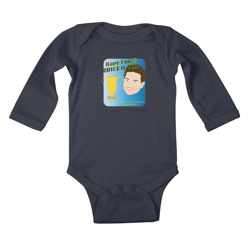 Quickie Fest for Mike Muntner Kids Baby Longsleeve Bodysuit by thebombdotcomdotcom.com