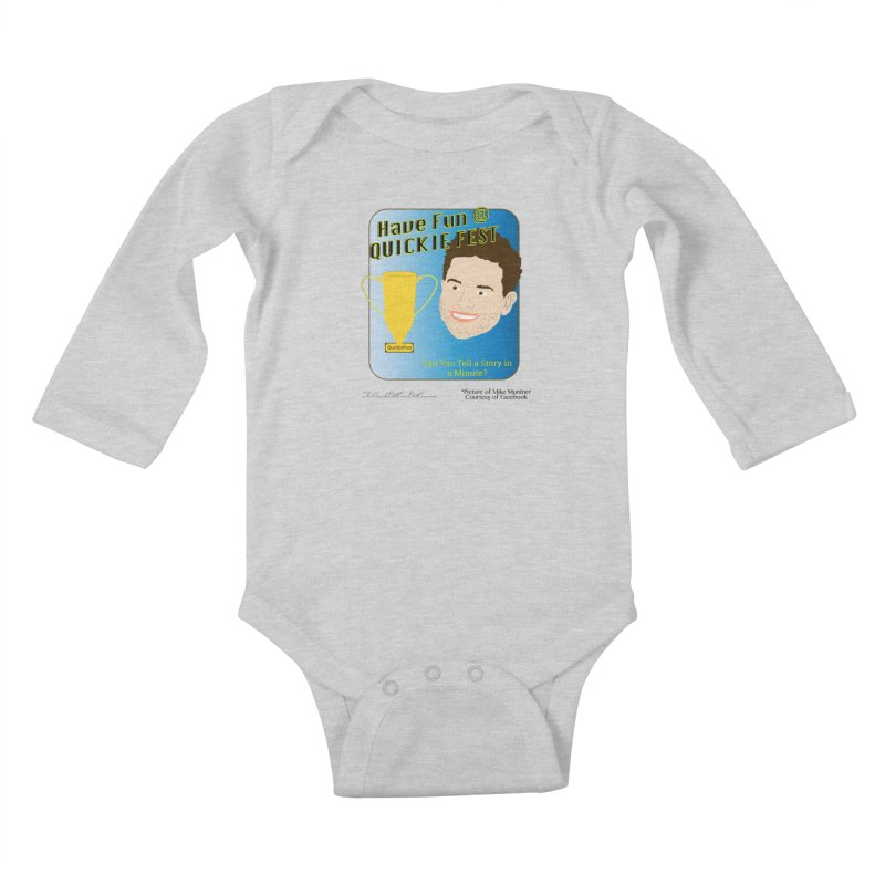 Quickie Fest for Mike Muntner Kids Baby Longsleeve Bodysuit by thebombdotcomdotcom.com