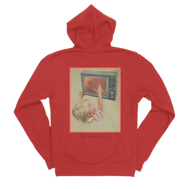 """Andy Riggs """"Taught to Yearn for the Unobtainable"""" Men's Sponge Fleece Zip-Up Hoody by thebombdotcomdotcom.com"""