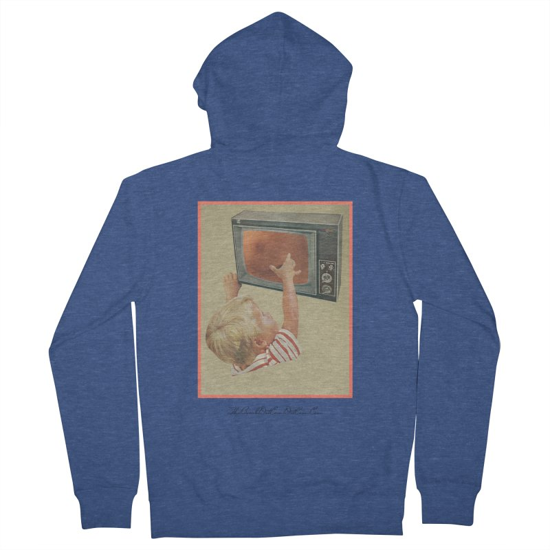 """Andy Riggs """"Taught to Yearn for the Unobtainable"""" Men's French Terry Zip-Up Hoody by thebombdotcomdotcom.com"""