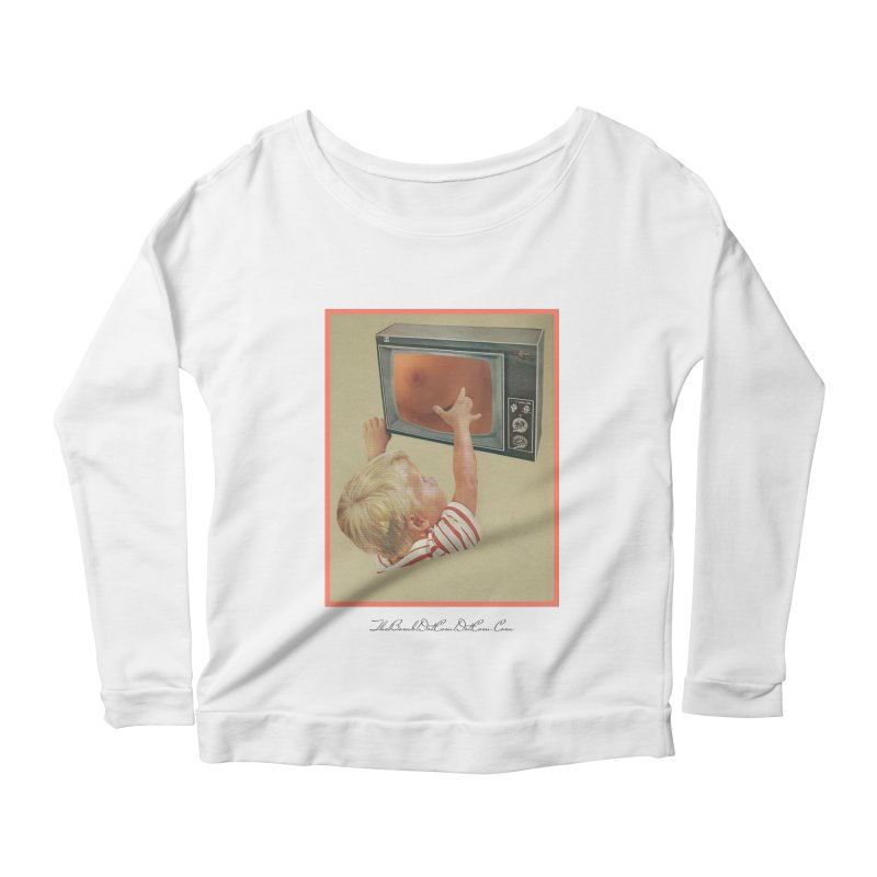 """Andy Riggs """"Taught to Yearn for the Unobtainable"""" Women's Scoop Neck Longsleeve T-Shirt by thebombdotcomdotcom.com"""