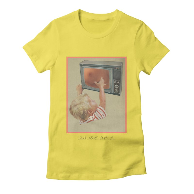 """Andy Riggs """"Taught to Yearn for the Unobtainable"""" Women's Fitted T-Shirt by thebombdotcomdotcom.com"""