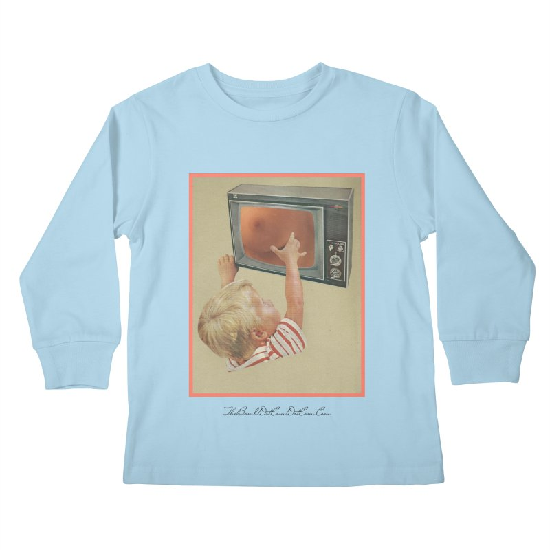 """Andy Riggs """"Taught to Yearn for the Unobtainable"""" Kids Longsleeve T-Shirt by thebombdotcomdotcom.com"""