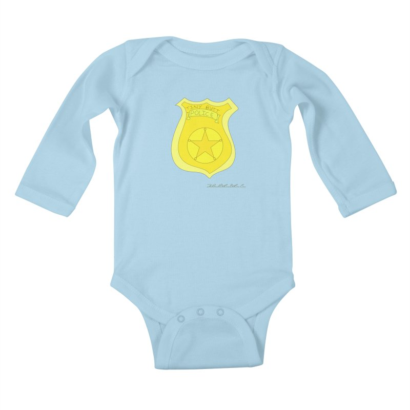 Tiny Butt Police for Betty Baston Kids Baby Longsleeve Bodysuit by thebombdotcomdotcom.com