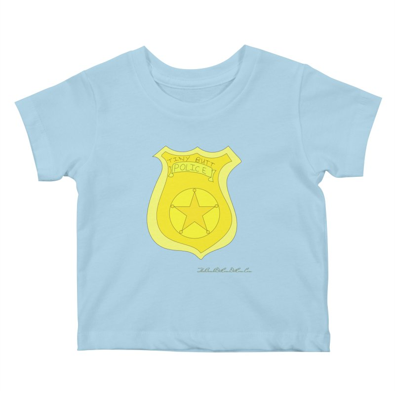 Tiny Butt Police for Betty Baston Kids Baby T-Shirt by thebombdotcomdotcom.com