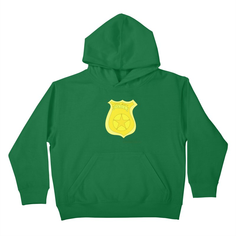 Tiny Butt Police for Betty Baston Kids Pullover Hoody by thebombdotcomdotcom.com