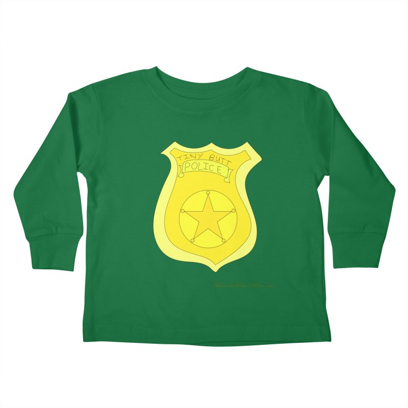 Tiny Butt Police for Betty Baston Kids Toddler Longsleeve T-Shirt by thebombdotcomdotcom.com