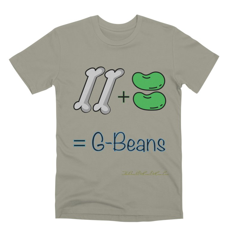 Two Bones Two Beans for Kayla Men's Premium T-Shirt by thebombdotcomdotcom.com