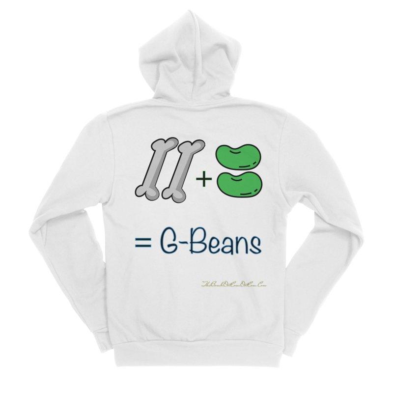 Two Bones Two Beans for Kayla Men's Sponge Fleece Zip-Up Hoody by thebombdotcomdotcom.com