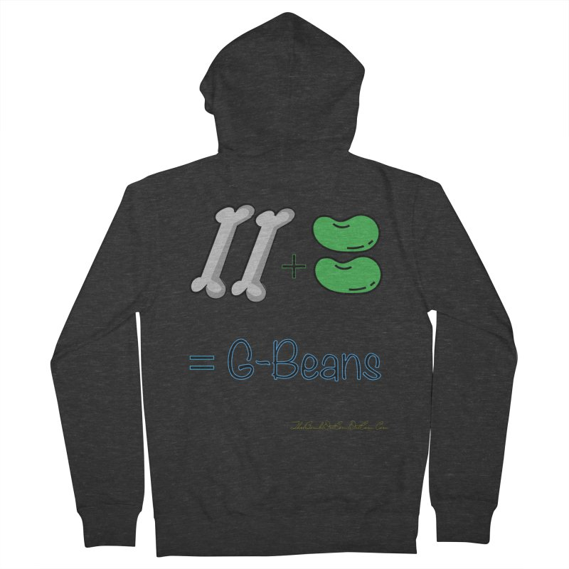 Two Bones Two Beans for Kayla Men's French Terry Zip-Up Hoody by thebombdotcomdotcom.com