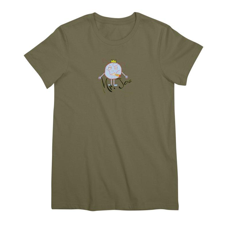 Mr. Joe sans Cherry Twins Women's Premium T-Shirt by thebombdotcomdotcom.com
