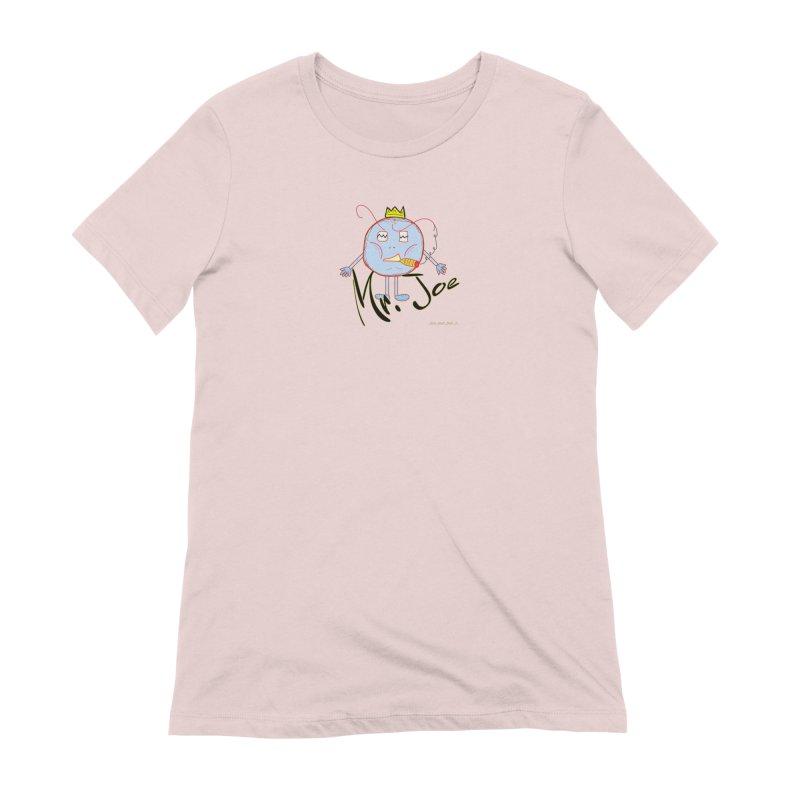 Mr. Joe sans Cherry Twins Women's Extra Soft T-Shirt by thebombdotcomdotcom.com