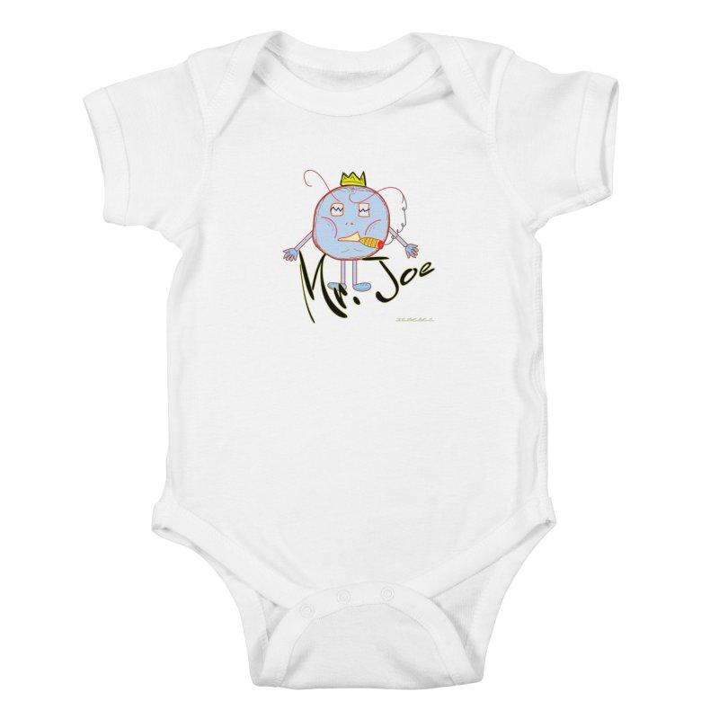 Mr. Joe sans Cherry Twins Kids Baby Bodysuit by thebombdotcomdotcom.com