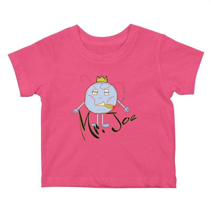 Mr. Joe sans Cherry Twins Kids Baby T-Shirt by thebombdotcomdotcom.com