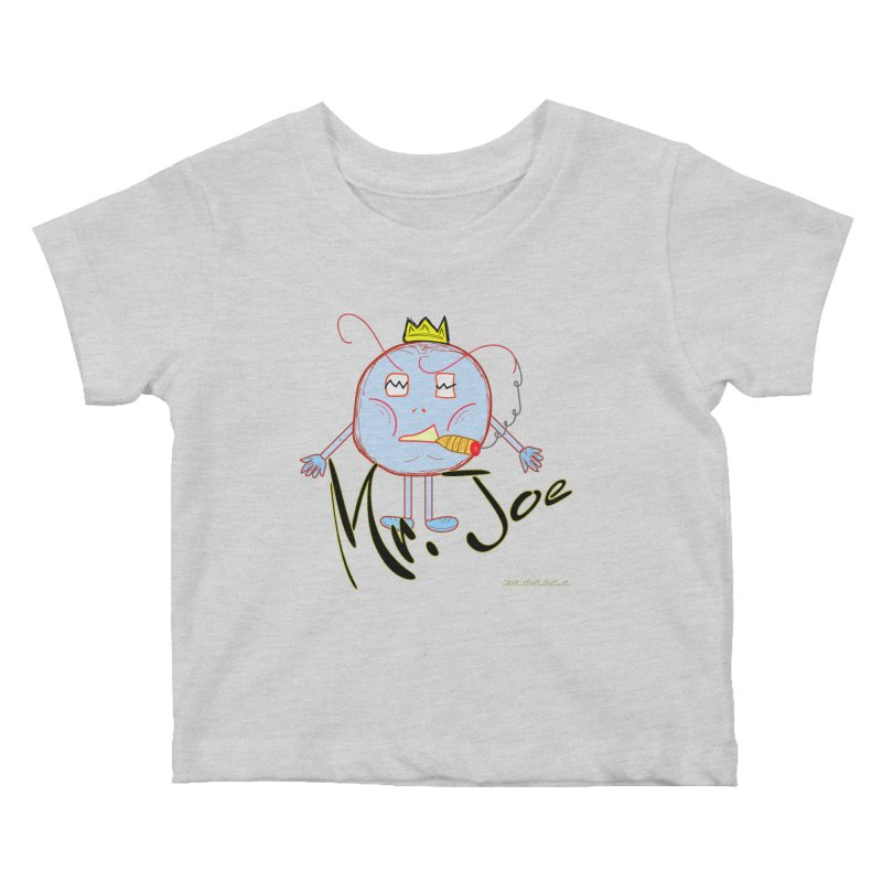 Mr. Joe sans Cherry Twins Kids Baby T-Shirt by thebombdotcomdotcom.com