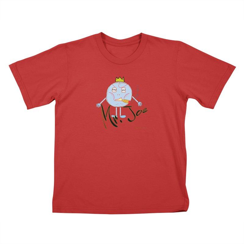 Mr. Joe sans Cherry Twins Kids T-Shirt by thebombdotcomdotcom.com