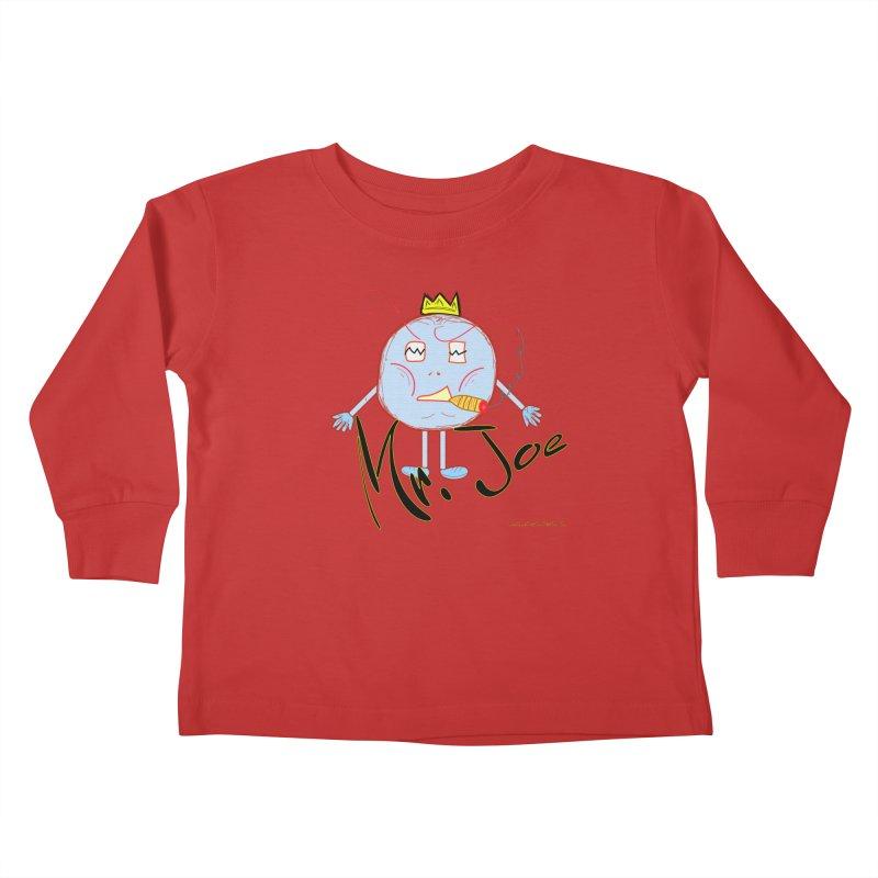Mr. Joe sans Cherry Twins Kids Toddler Longsleeve T-Shirt by thebombdotcomdotcom.com