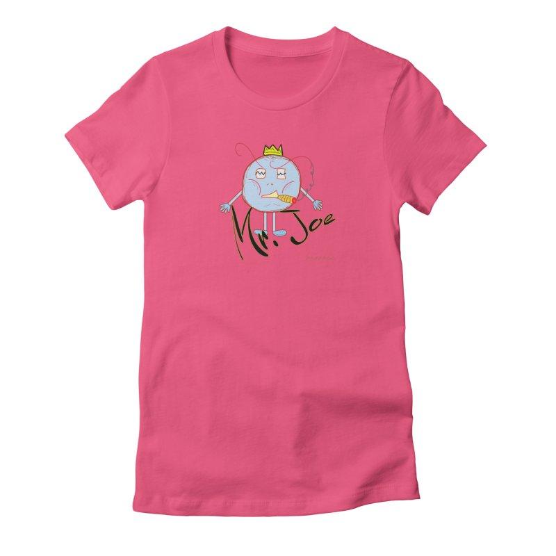 Mr. Joe sans Cherry Twins Women's Fitted T-Shirt by thebombdotcomdotcom.com