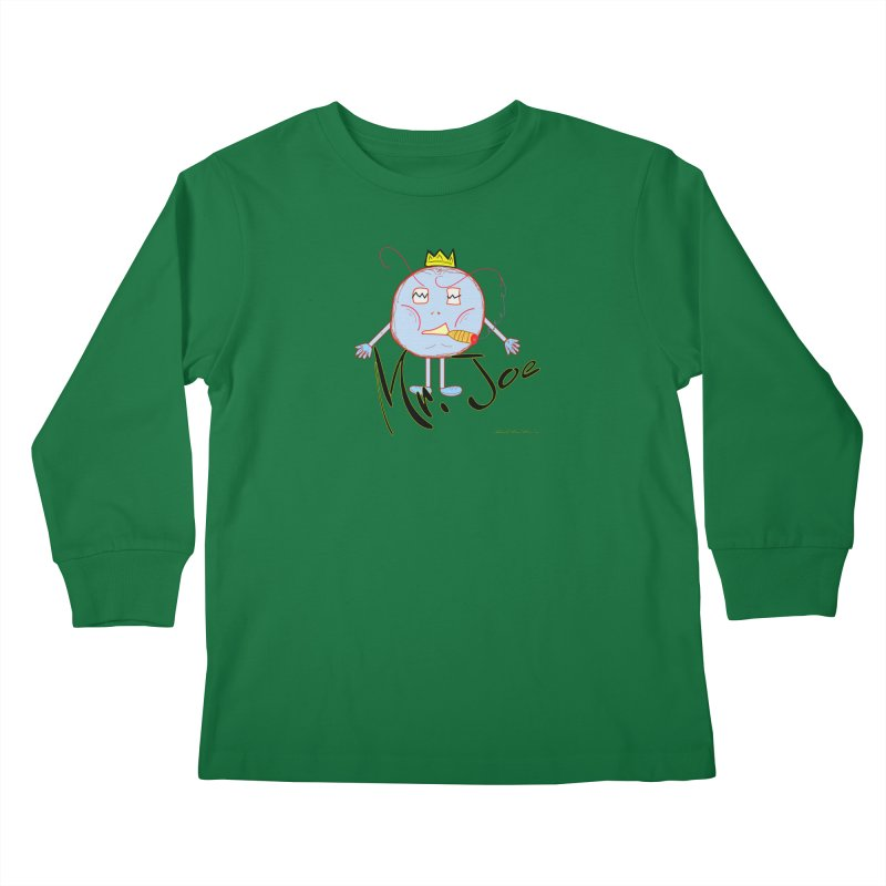 Mr. Joe sans Cherry Twins Kids Longsleeve T-Shirt by thebombdotcomdotcom.com