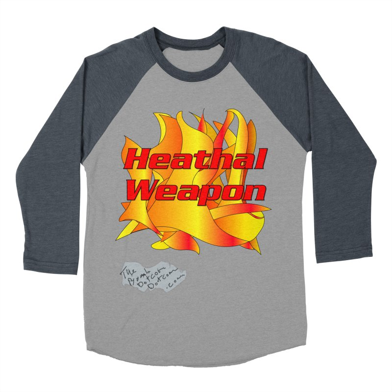 Heathal Weapon- A shirt for Heath Men's Baseball Triblend Longsleeve T-Shirt by thebombdotcomdotcom.com