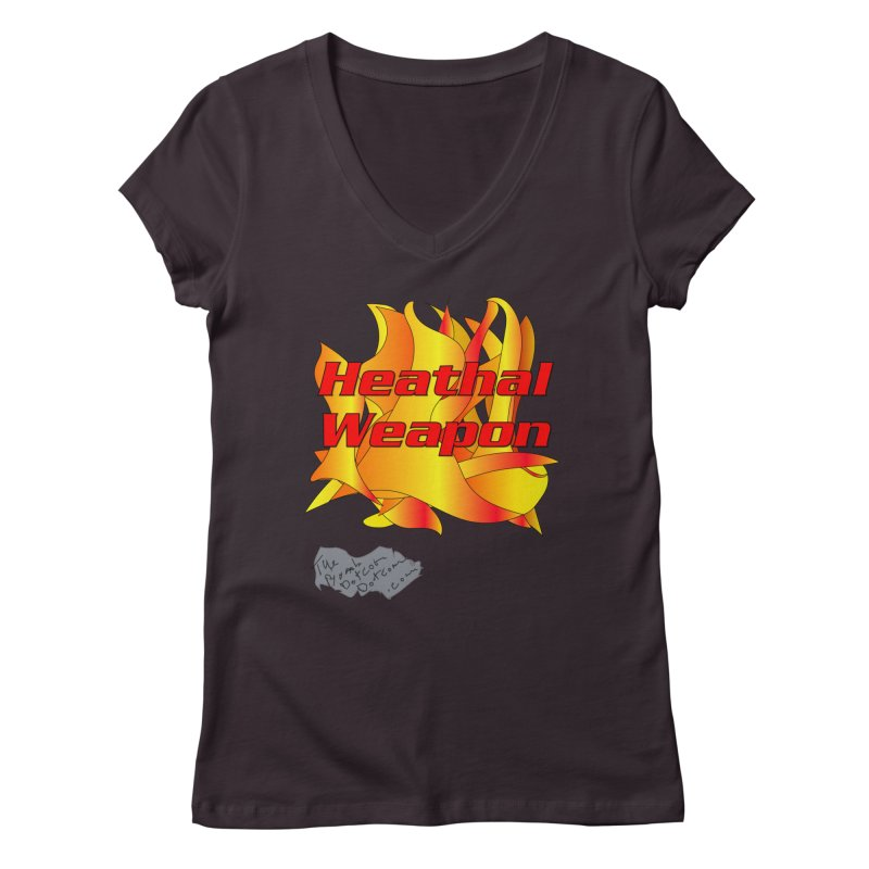 Heathal Weapon- A shirt for Heath Women's Regular V-Neck by thebombdotcomdotcom.com