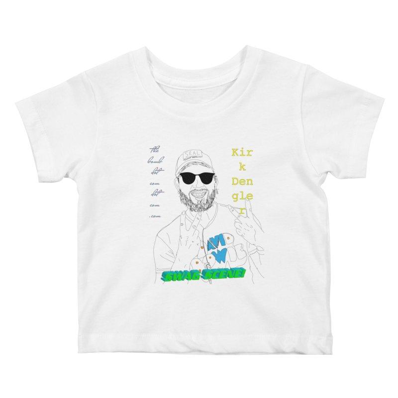 """SWAG SCENE!"" Kirk Dengler: The Shirt Kids Baby T-Shirt by thebombdotcomdotcom.com"