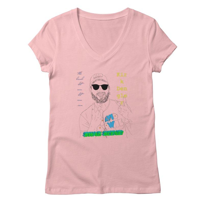 """""""SWAG SCENE!"""" Kirk Dengler: The Shirt Women's Regular V-Neck by thebombdotcomdotcom.com"""