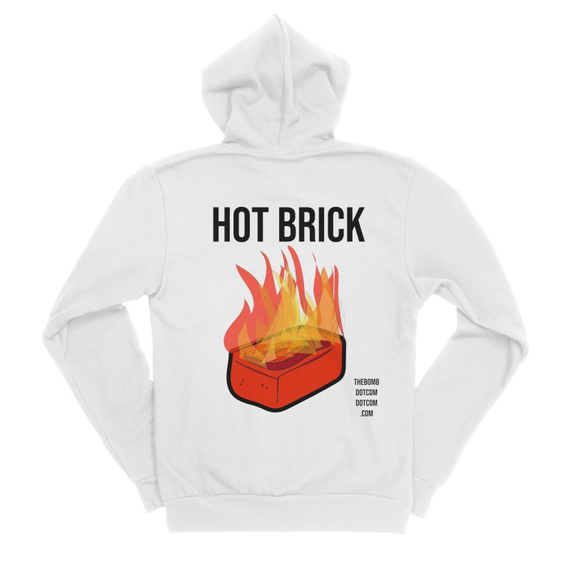 Hot Brick for Julio Zepeda Men's Sponge Fleece Zip-Up Hoody by thebombdotcomdotcom.com