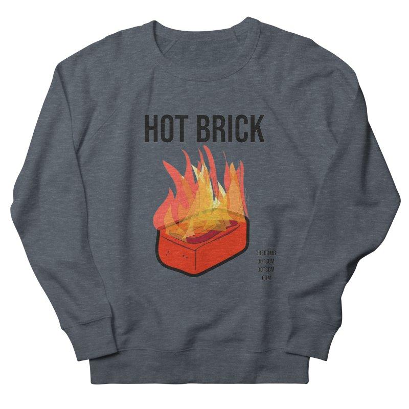 Hot Brick for Julio Zepeda Men's French Terry Sweatshirt by thebombdotcomdotcom.com