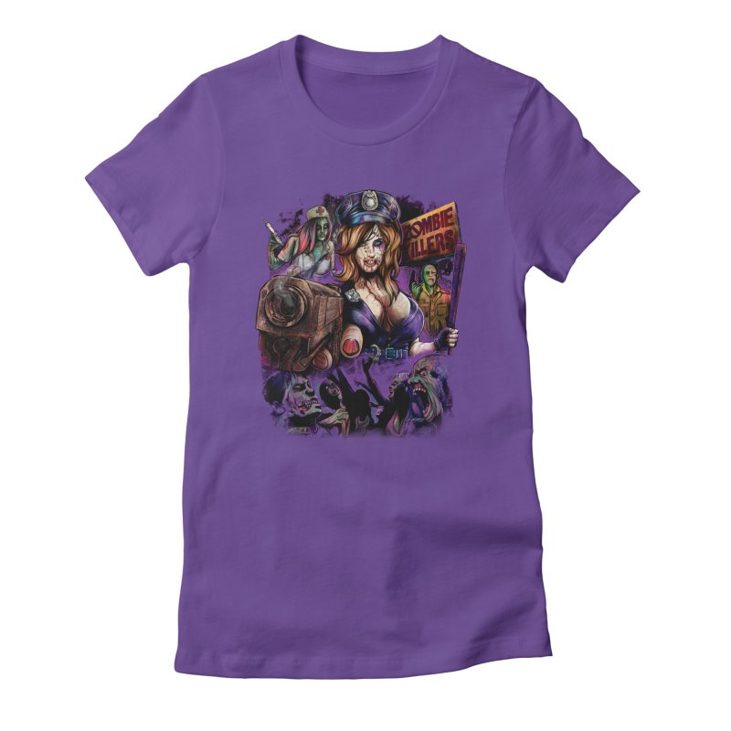 ZOMBIE KILLERS Women's Fitted T-Shirt by T.JEF