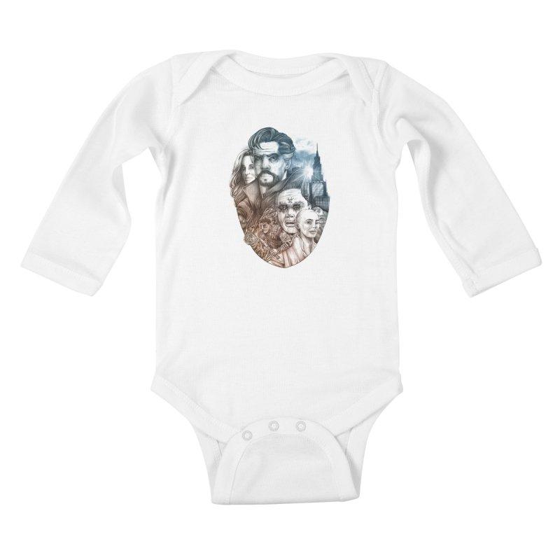 Dr Strange Kids Baby Longsleeve Bodysuit by T.JEF