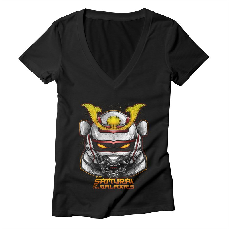 HANNYA - JASPION Women's V-Neck by T.JEF