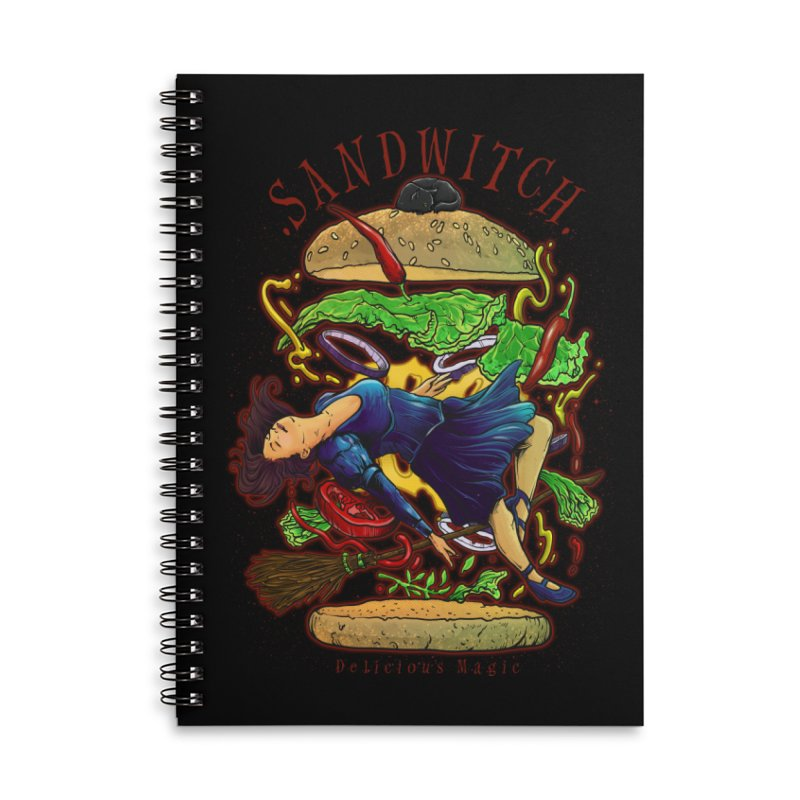 SandWitch Accessories Lined Spiral Notebook by T.JEF