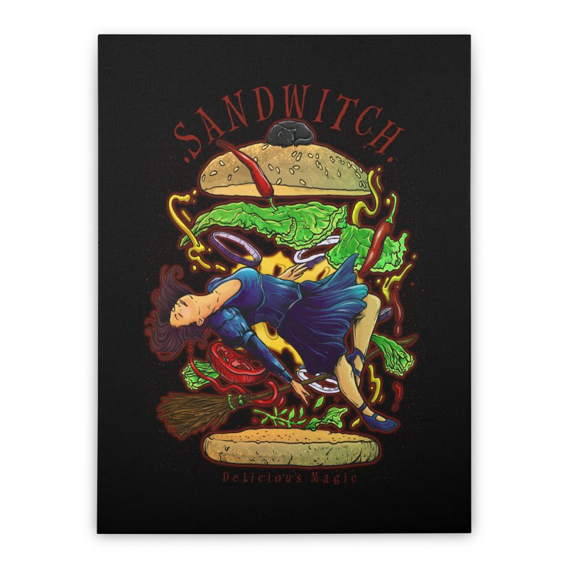 SandWitch Home Stretched Canvas by T.JEF