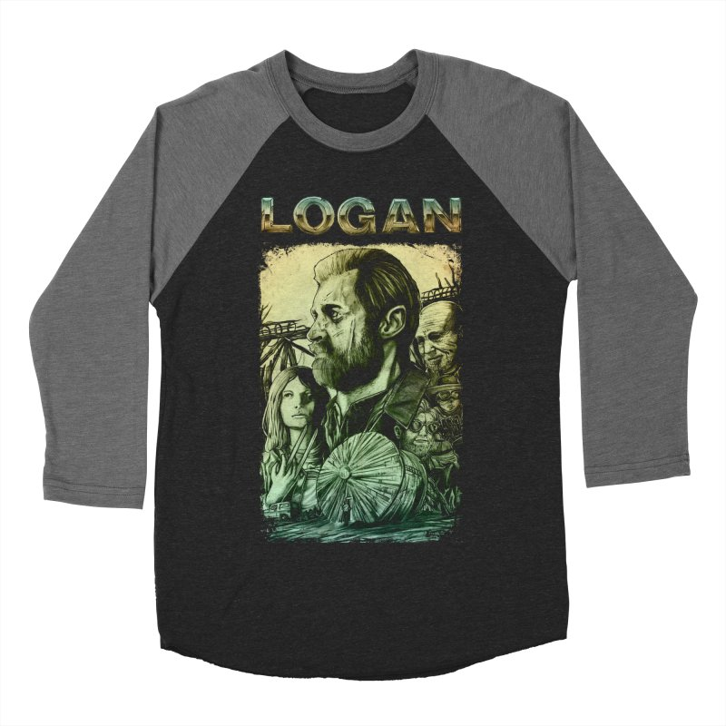 LOGAN - X23 Men's Baseball Triblend T-Shirt by T.JEF