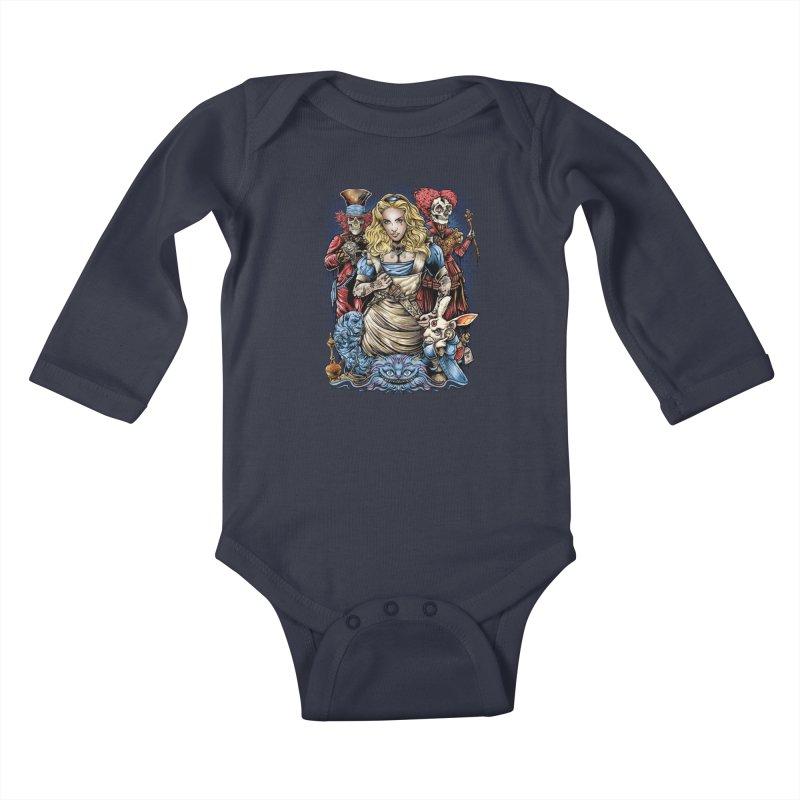 Alice Nigthmare Kids Baby Longsleeve Bodysuit by T.JEF