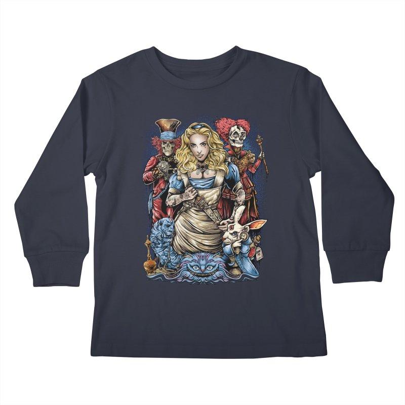 Alice Nigthmare Kids Longsleeve T-Shirt by T.JEF