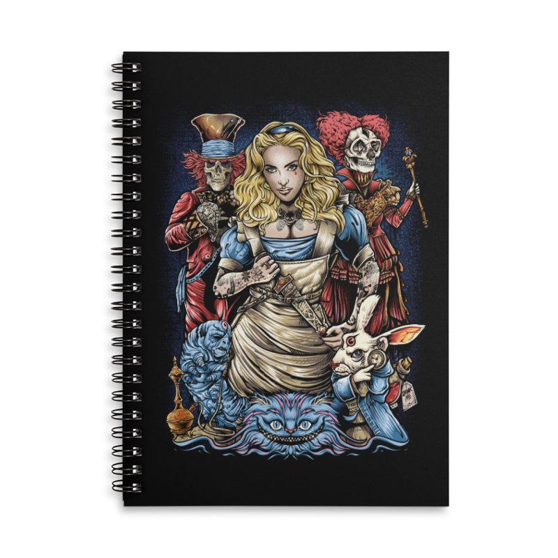 Alice Nigthmare Accessories Lined Spiral Notebook by T.JEF