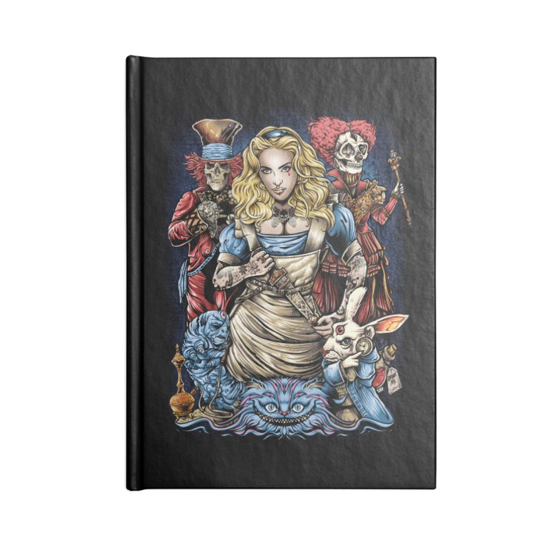 Alice Nigthmare Accessories Blank Journal Notebook by T.JEF
