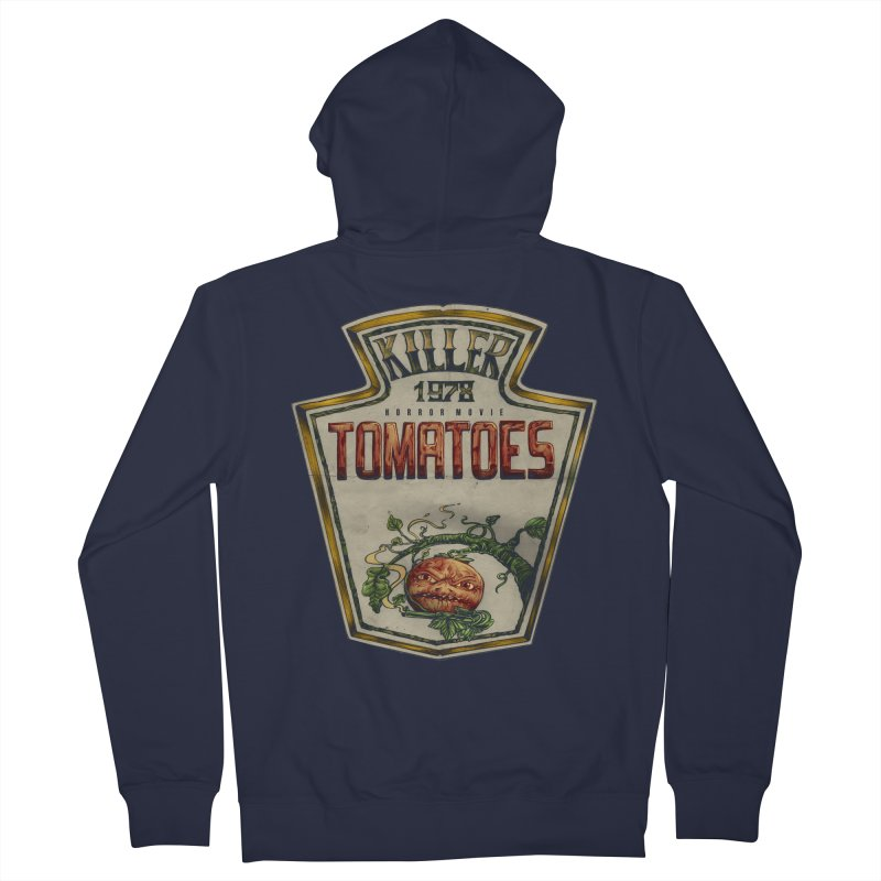 KILLER TOMATOES  Women's French Terry Zip-Up Hoody by T.JEF