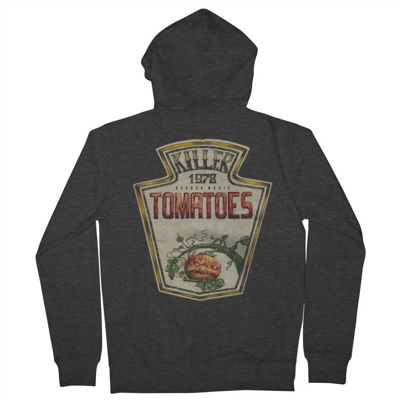 KILLER TOMATOES  Men's French Terry Zip-Up Hoody by T.JEF