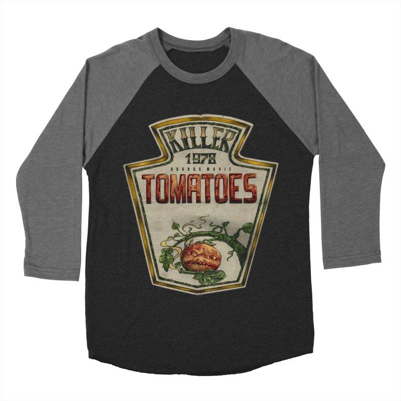 KILLER TOMATOES  Men's Baseball Triblend Longsleeve T-Shirt by T.JEF