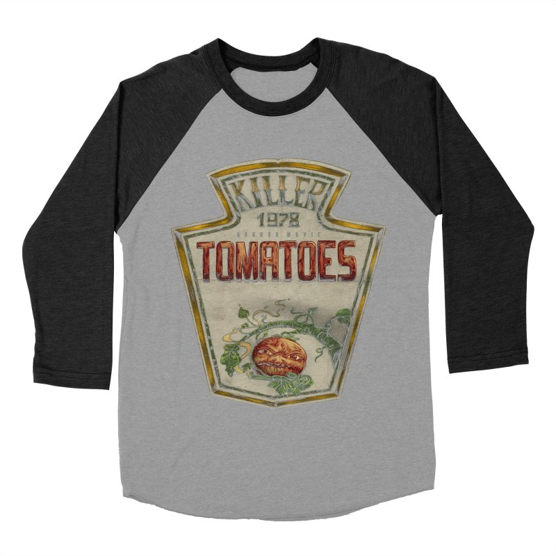 KILLER TOMATOES  Men's Baseball Triblend T-Shirt by T.JEF