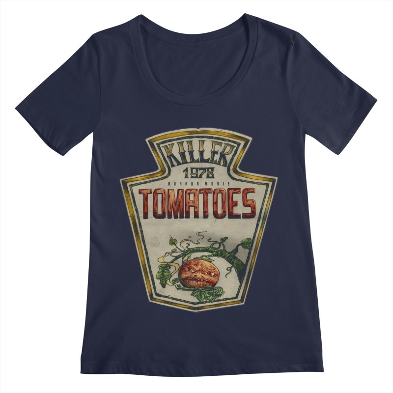 KILLER TOMATOES  Women's Scoop Neck by T.JEF